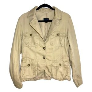 H&M Khaki Utility Jacket Size 10